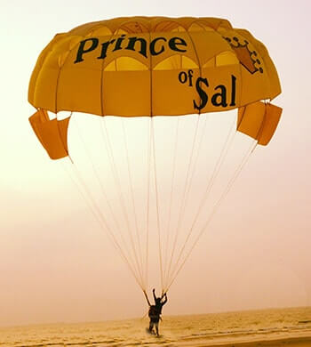 Parasailing-landing